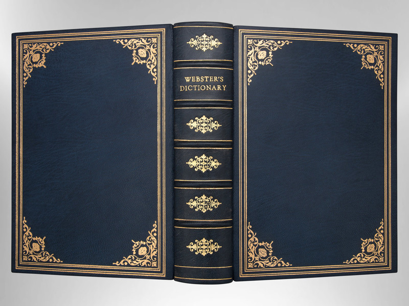 Merriam-Webster's Collegiate Dictionary, Signed Custom Harcourt Binding