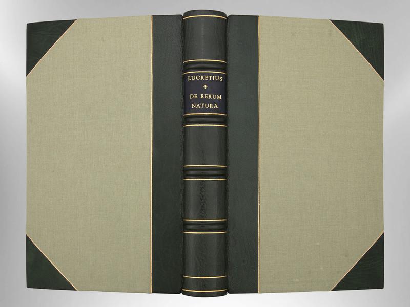 De Rerum Natura by Lucretius, Signed Custom Harcourt Binding