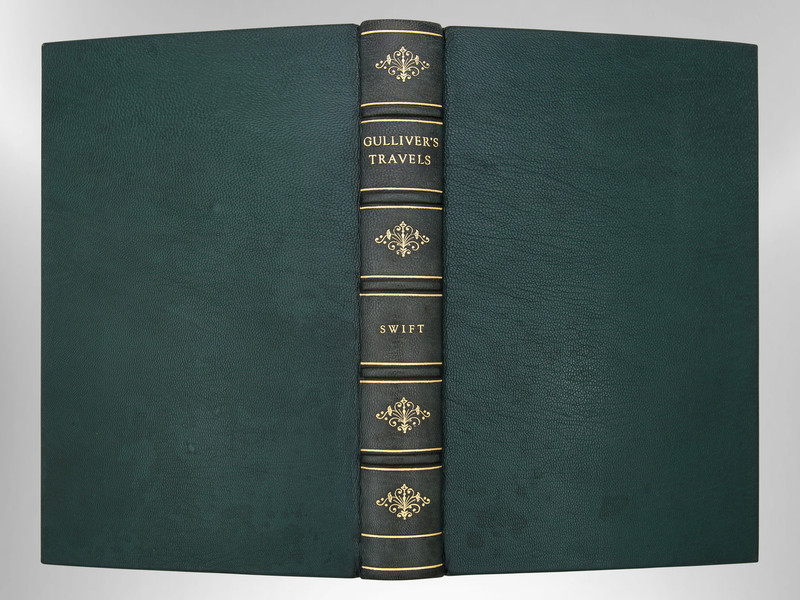 Gulliver's Travels by Jonathan Swift, Signed Custom Harcourt Binding