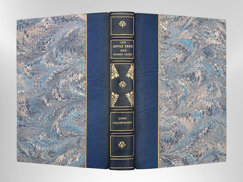 Five Tales by John Galsworthy , Signed Custom Harcourt Binding