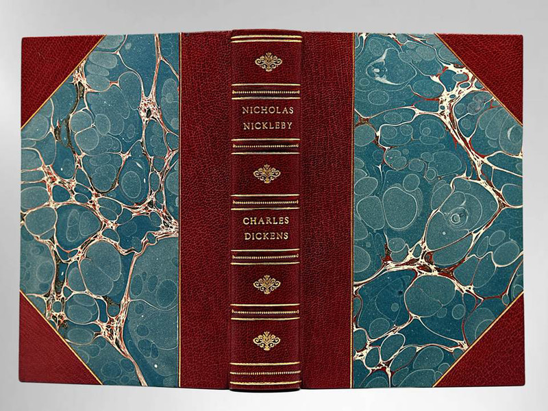 Nicholas Nickleby by Charles Dickens, Illustrated by Phiz, Sims Custom Binding