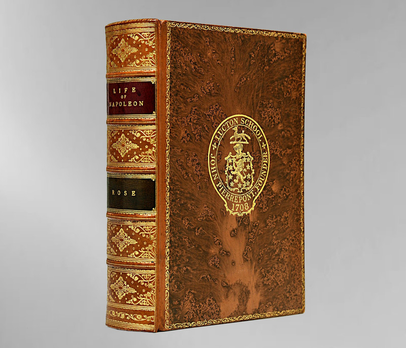 The Life of Napoleon I by John Holland Rose, 1924, Signed Bickers Prize Binding