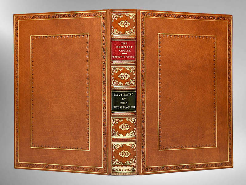 The Compleat Angler, Illustrated by E. F. Daglish, Custom Sims Binding