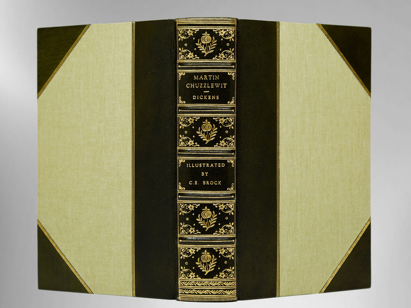 Martin Chuzzlewit by Charles Dickens, Illustrated by C.E. Brock, Sims Binding
