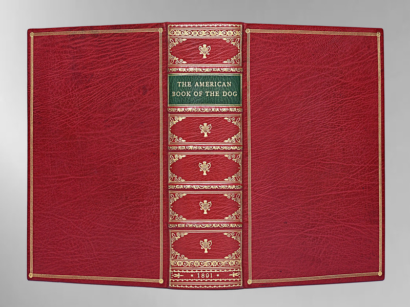 The American Book of the Dog, 1891 1st Edition, Full Leather Custom Binding