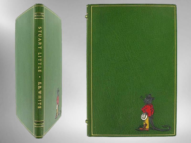 Stuart Little by E.B. White, First Edition, 1945, Signed Chelsea Onlaid Binding