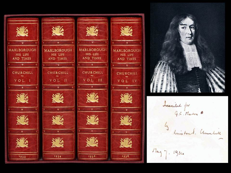 Marlborough: His Life and Times by Winston Churchill, Signed Presentation Copy