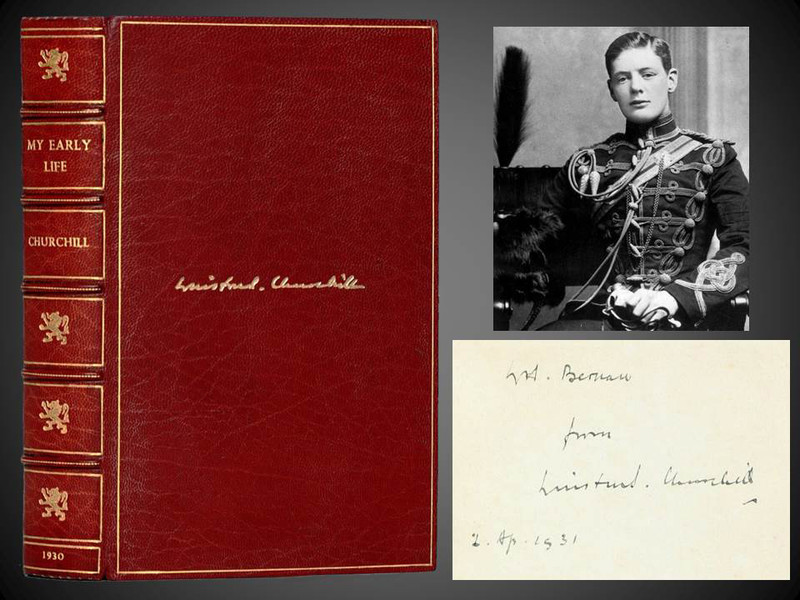 My Early Life by Winston Churchill, 1st Edition, Signed Presentation Copy