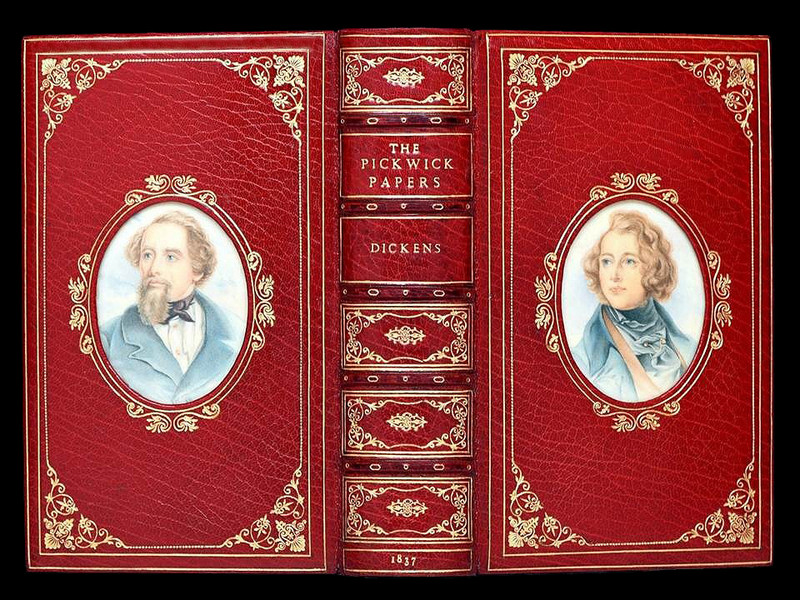 The Pickwick Papers by Charles Dickens, 1st Edition, Bayntun-Rivere Cosway Binding