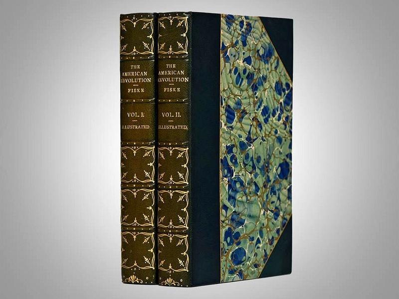 The American Revolution by John Fiske, 1901, Illustrated Edition, Custom Bindings