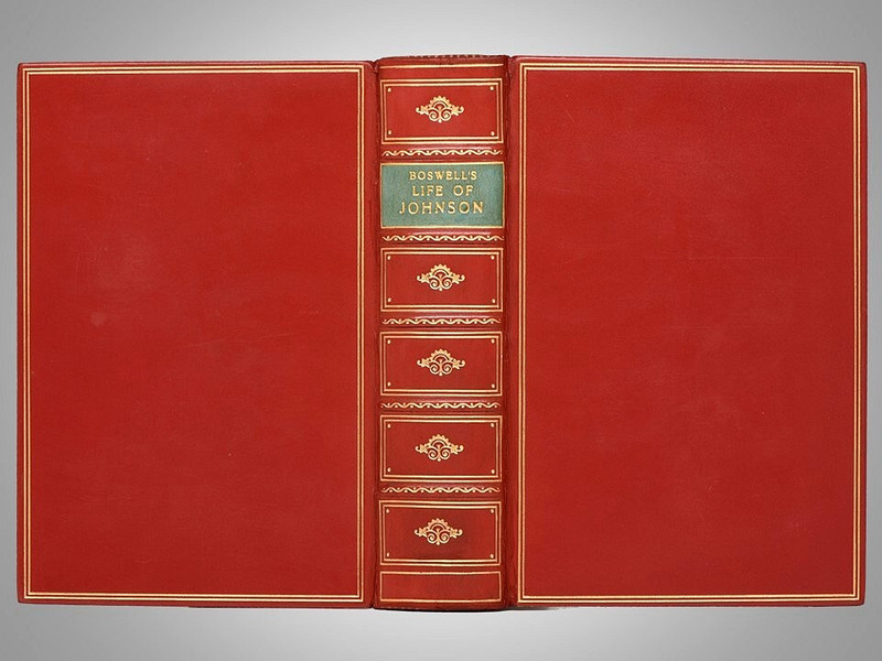Boswell's Life of Johnson, Signed Bayntun-Riviere Full Leather Binding