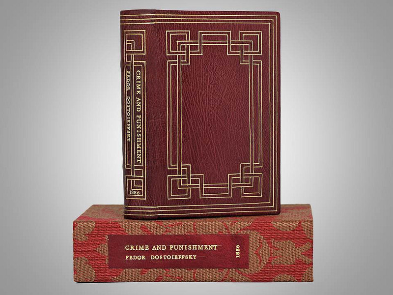 Crime and Punishment, First English Edition, Unique Binding by Jamie Kamph