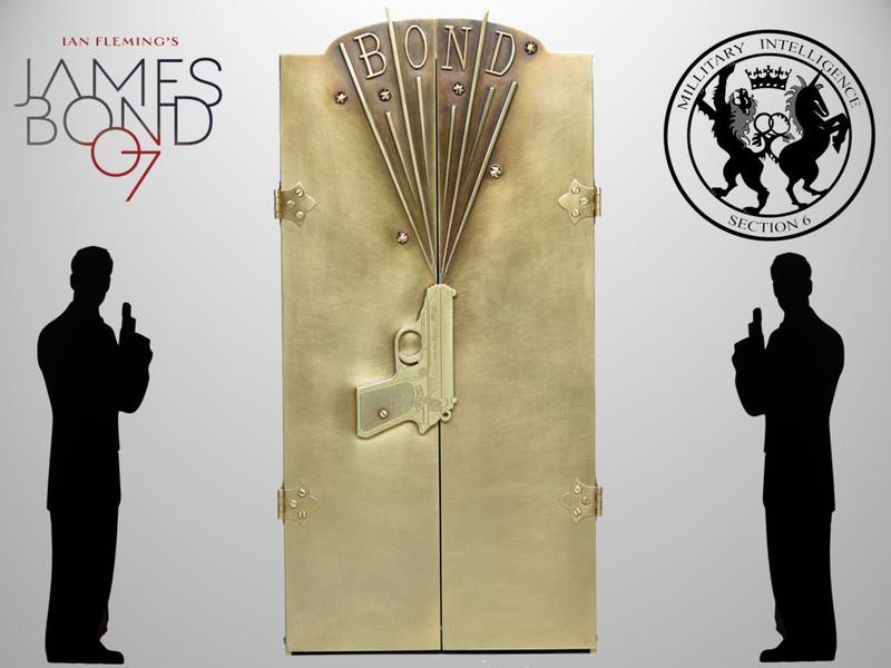 Complete James Bond 1st Edition Collection, Unique Sculpture by The Firedance Studio