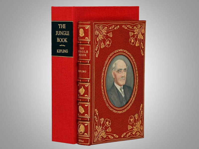 """The Jungle Book by Rudyard Kipling, First Edition, 1894, """"Cosway Style"""" Binding"""