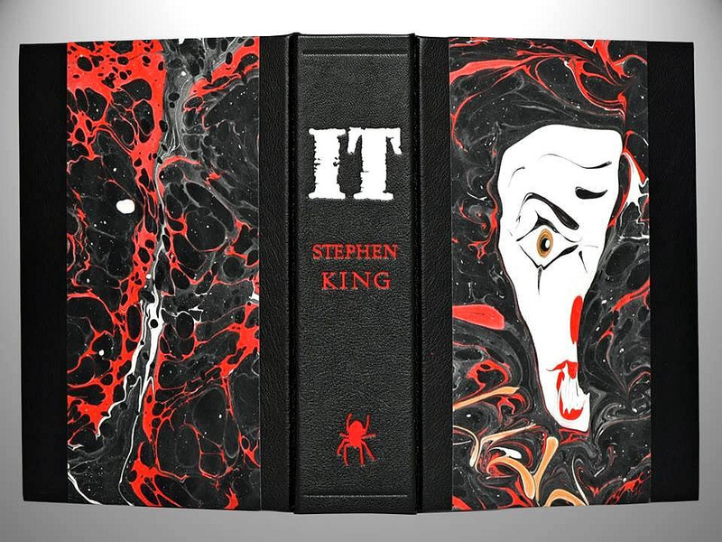 IT by Stephen King, First Edition, 1986, Unique Leather Binding by Scott Kellar