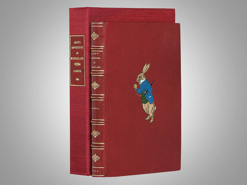 Alice's Adventures in Wonderland by Lewis Carroll, 1866, Unique Trevor Lloyd Binding