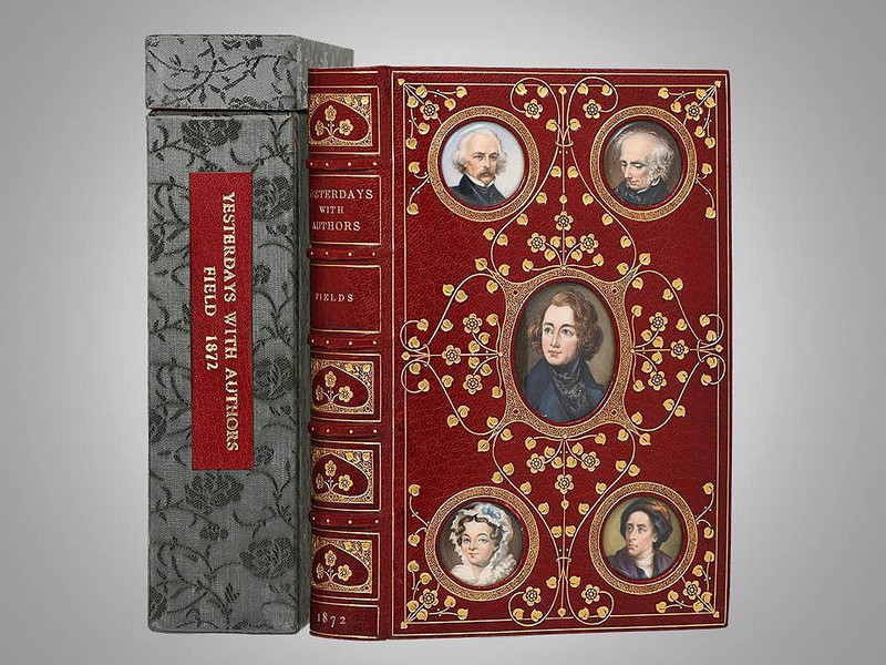 Yesterdays with Authors by James Fields,  Cosway Style Binding by Riviére & Son
