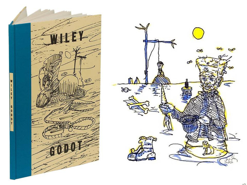 Godot by Samuel Beckett, Art by William Wiley, Signed Limited Edition, 230 of 300
