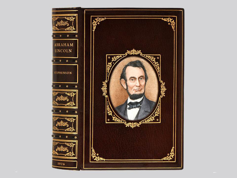 An Autobiography of Abraham Lincoln by Stephenson,  Unique Cosway Style Binding