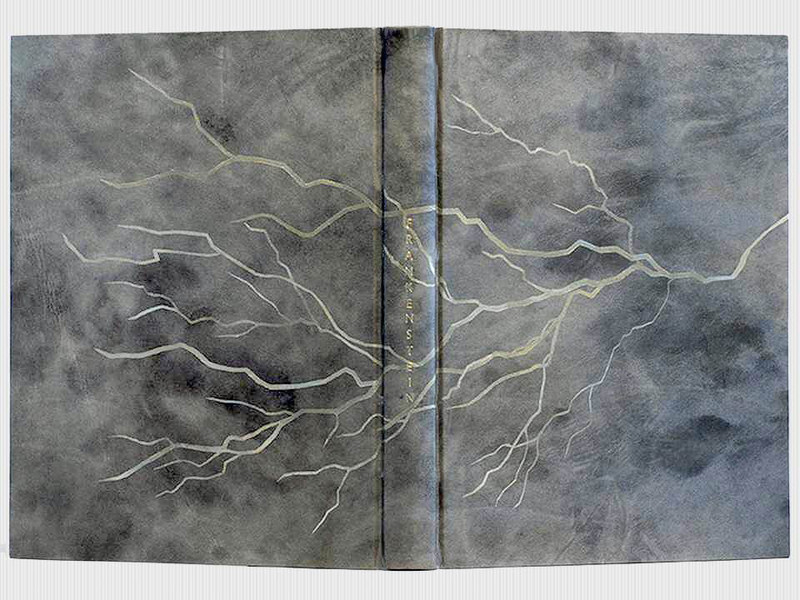 Frankenstein, Illustrated by Barry Moser, Unique Leather Binding by Karen Hanmer