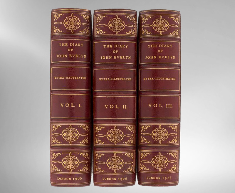 The Diary of John Evelyn, 1906, Signed Bindings by Chivers, Bath, England