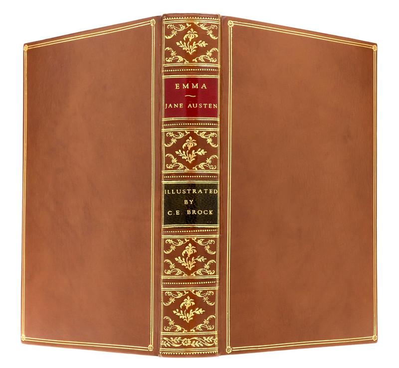 Emma by Jane Austen, Illustrated by C.E. Brock, Custom Sims Binding