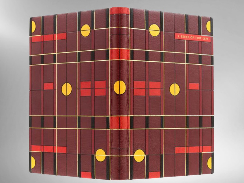 A Sense of Time Left by Maureen Morehead, Unique Binding by Scott Kellar