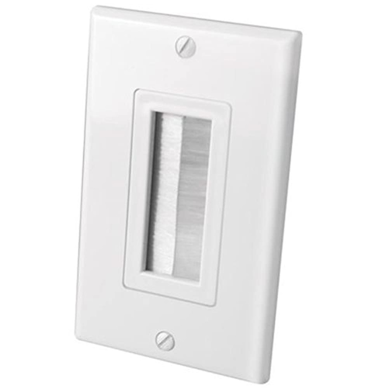 Vanco 120614 White 2-Piece Bulk Cable Wall Plate