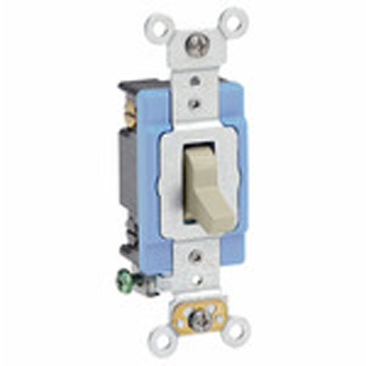 120//277-Volt Toggle Framed 4-Way AC Quiet Switch Leviton 54504-2I 15-Amp Commercial Grade Ivory