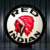 "Red Indian Gasoline - 13.5"" Gas Pump Globe"