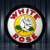 "White Rose Gasoline - 13.5"" Gas Pump Globe"