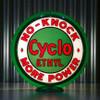 """Red Indian Cyclo Ethyl - 13.5"""" Gas Pump Globe"""
