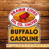 "Prairie Cities Buffalo Gasoline 10.5"" x 12"" Pump Decal"