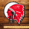 "Red Indian Die Cut (Late) 12"" x 13""  Pump Decal"