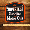 "Supertest Gasoline & Motor Oils 12"" Pump Decal"