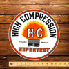 "Supertest HC Gasoline 12"" Pump Decal"