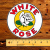 "White Rose Gasoline 6"" Lubester Decal"