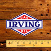 "Irving Gasoline Motor Oil Lubester 6"" Decal"