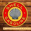 """Shell Roxanna Gasoline 12"""" Pump Decal"""
