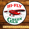 "Hi-Fly Green Gas 12"" Gas Pump Decal"