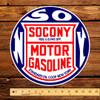 "Socony Motor Gasoline 12"" Pump Decal"