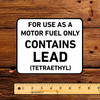 Contains Lead Gas Pump Decal (Late)