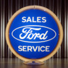 "Ford Oval Sales Service - 13.5"" Advertising Globe"