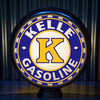 Kelle Gasoline custom gas pump globe