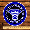 """Ford V-8 Authorized Dealer 12"""" Pump Decal"""