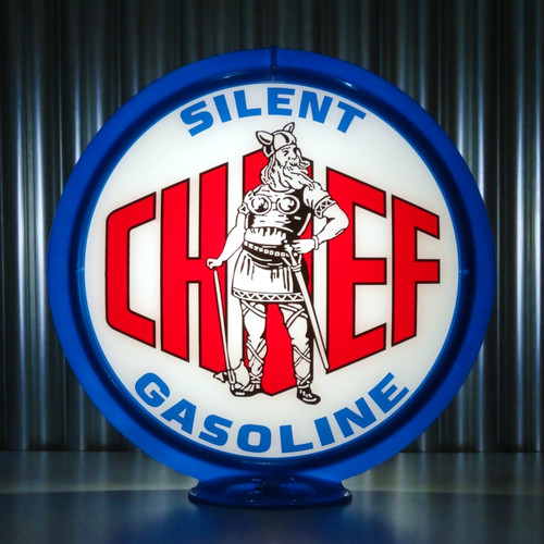 "Silent Chief Gasoline - 13.5"" Gas Pump Globe"