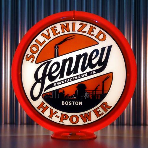 "Jenney Hy-Power Gasoline - 13.5"" Gas Pump Globe"