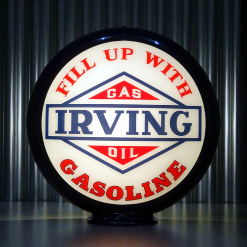 "Irving Gasoline - 13.5"" Gas Pump Globe"