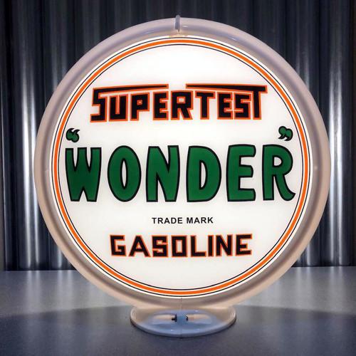 """Supertest Wonder Gasoline - 13.5"""" Gas Pump Globe"""