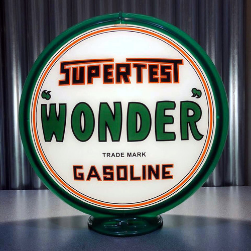 "Supertest Wonder Gasoline - 13.5"" Gas Pump Globe"